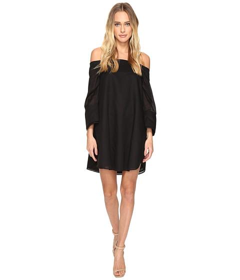 Halston Heritage Wide Long Sleeve Dress w/ Cold Shoulder Detail - Black