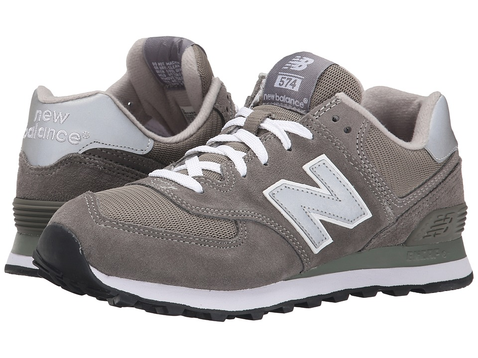 New Balance Classics M574 Gray/Silver/White Mens Classic Shoes