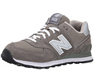 New Balance Classics M574 Gray, Silver, White Shoes