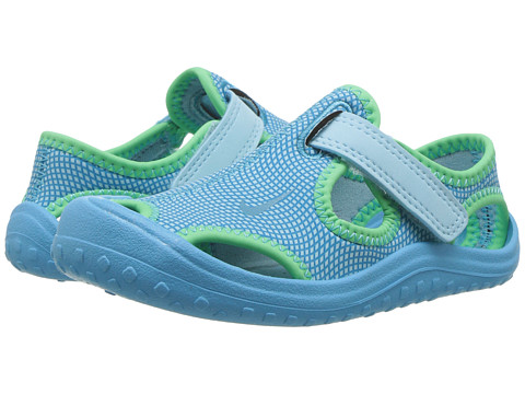 Nike Kids Sunray Protect (Infant/Toddler) - Still Blue/Chlorine Blue/Electro Green