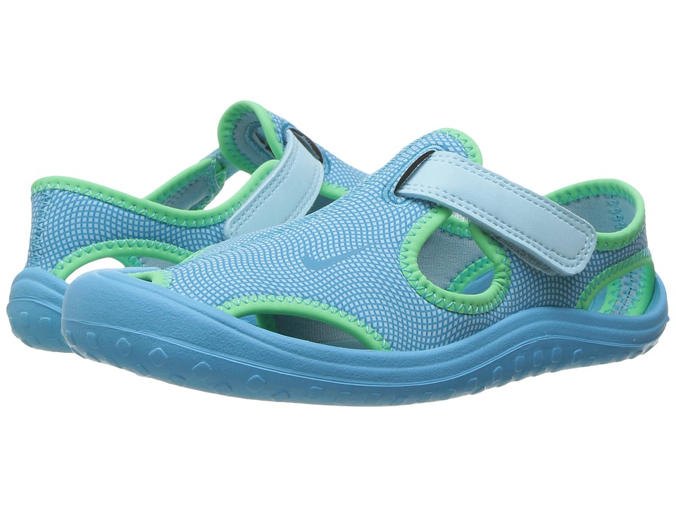 Nike Kids Sunray Protect (Little Kid) (Still Blue/Chlorine Blue/Electro Green) Girls Shoes