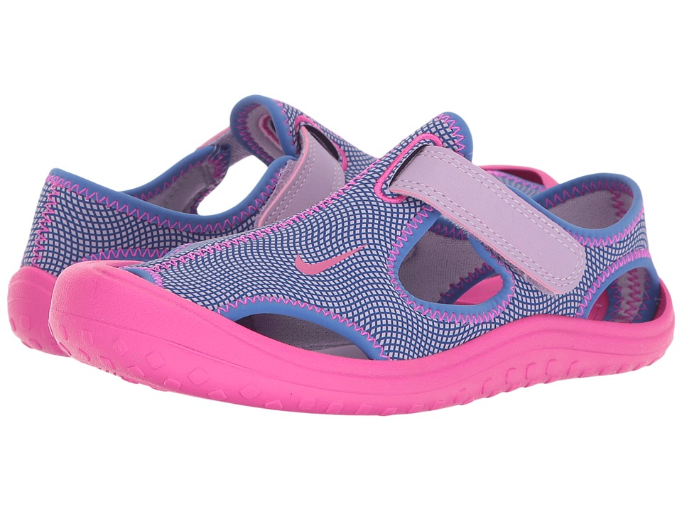Nike Kids Sunray Protect (Little Kid) (Hydrangeas/Fire Pink/Comet Blue) Girls Shoes