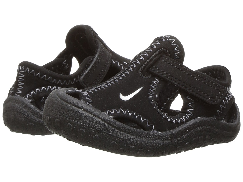 Nike Kids Sunray Protect (Infant/Toddler) (Black/White) Boy's Shoes