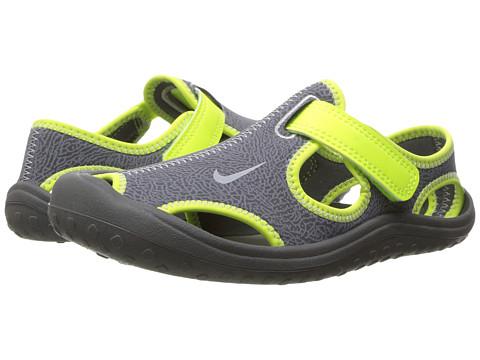 Nike Kids Sunray Protect (Little Kid) - Dark Grey/Wolf Grey/Volt