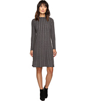 B Collection by Bobeau - Ribbed Knit Mock Neck Dress