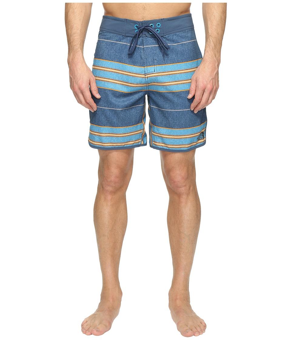 The North Face Whitecap Boardshorts Short (Shady Blue Chambray Stripe) Men