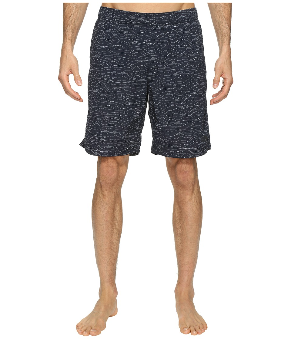 The North Face Class V Pull-On Trunk Long (Urban Navy Mountain Scape Print (Prior Season)) Men