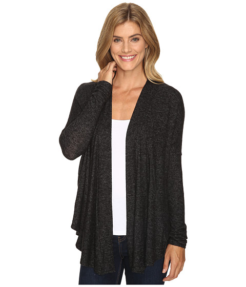 B Collection by Bobeau Syden Relaxed Cardi - Charcoal Grey