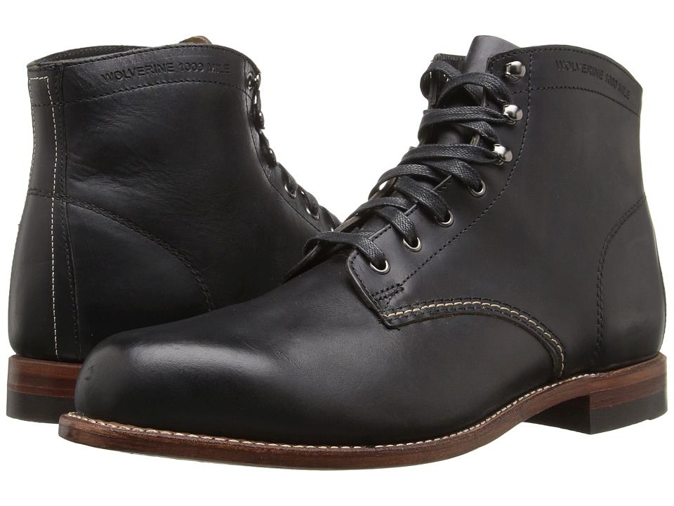 Wolverine Original 1000 Mile 6 Boot (Black Leather) Men