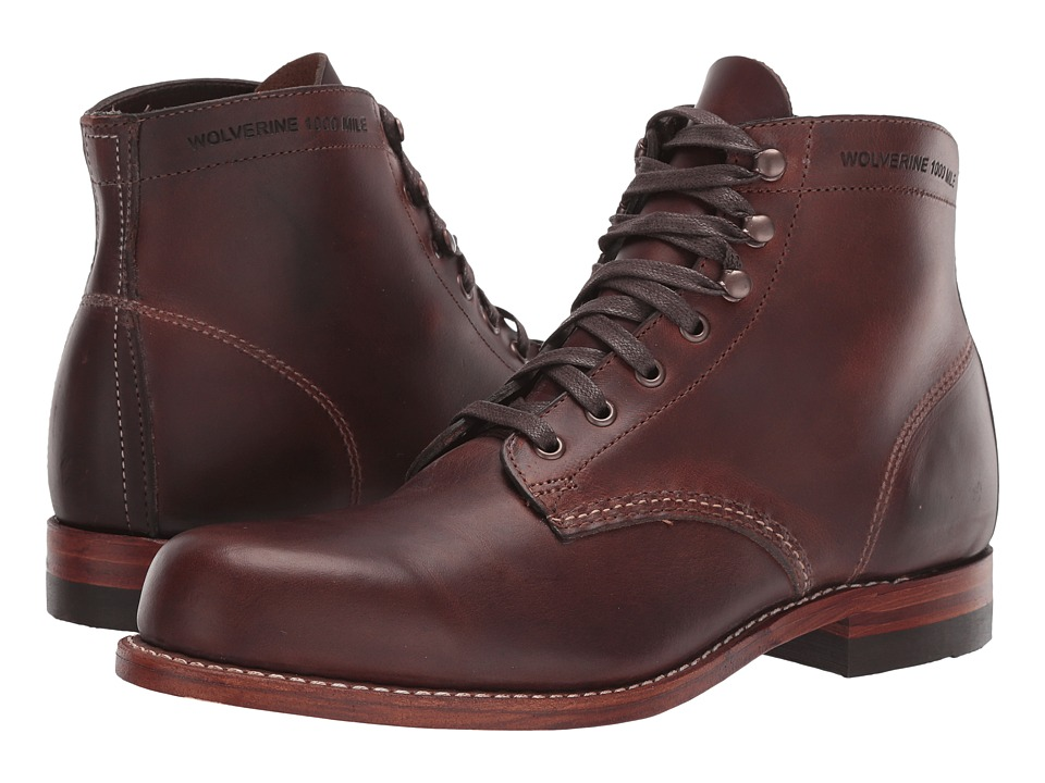Wolverine Original 1000 Mile 6 Boot (Brown Leather) Men