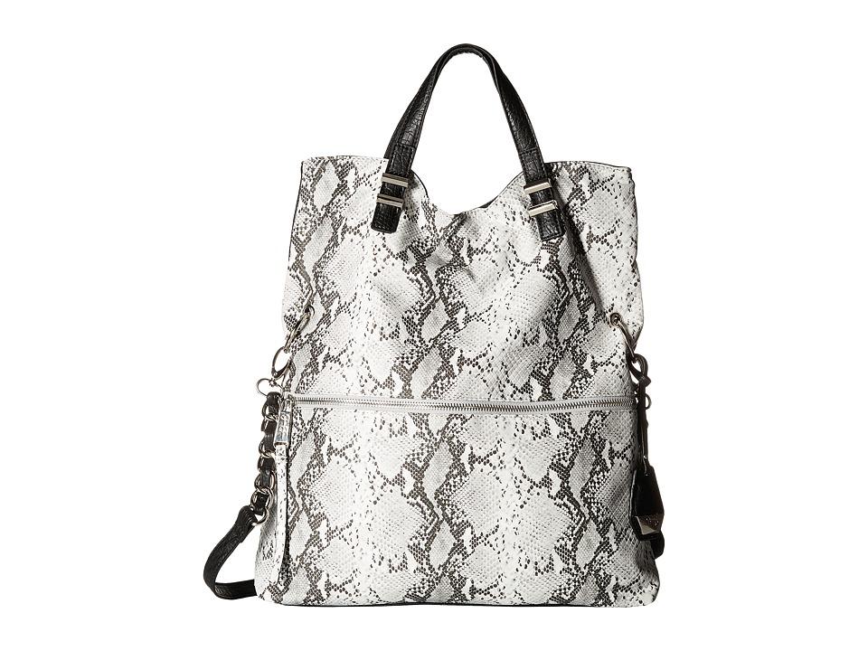 Jessica Simpson - Hanne Fold-Over Crossbody (Black/White Python) Cross Body Handbags
