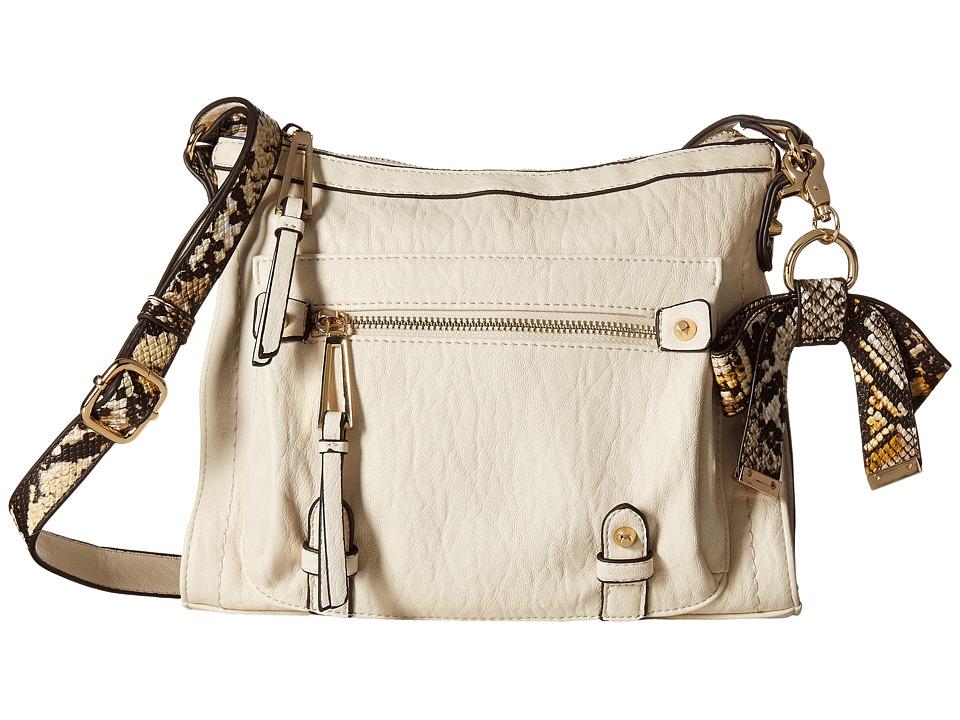 Jessica Simpson - Tatiana Crossbody (Putty/Brown Snake) Cross Body Handbags