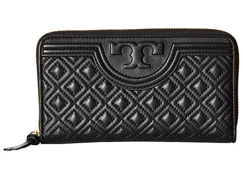 Tory Burch Fleming Zip Continental Wallet - Black