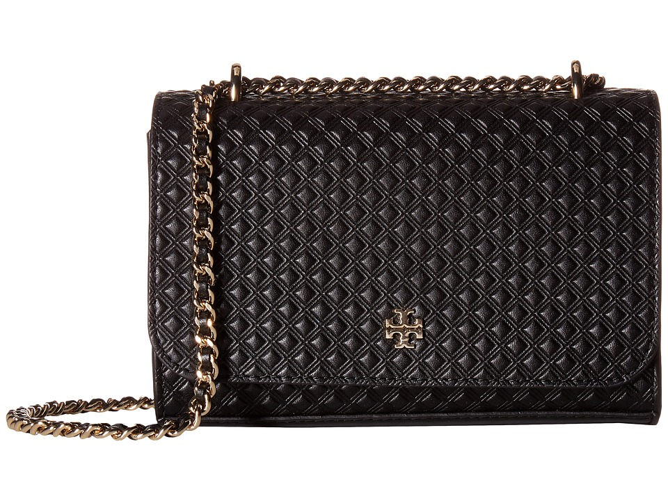 ae5b9d6955f3 ... UPC 190041267545 product image for Tory Burch - Marion Embossed Shrunken  Shoulder Bag (Black) ...