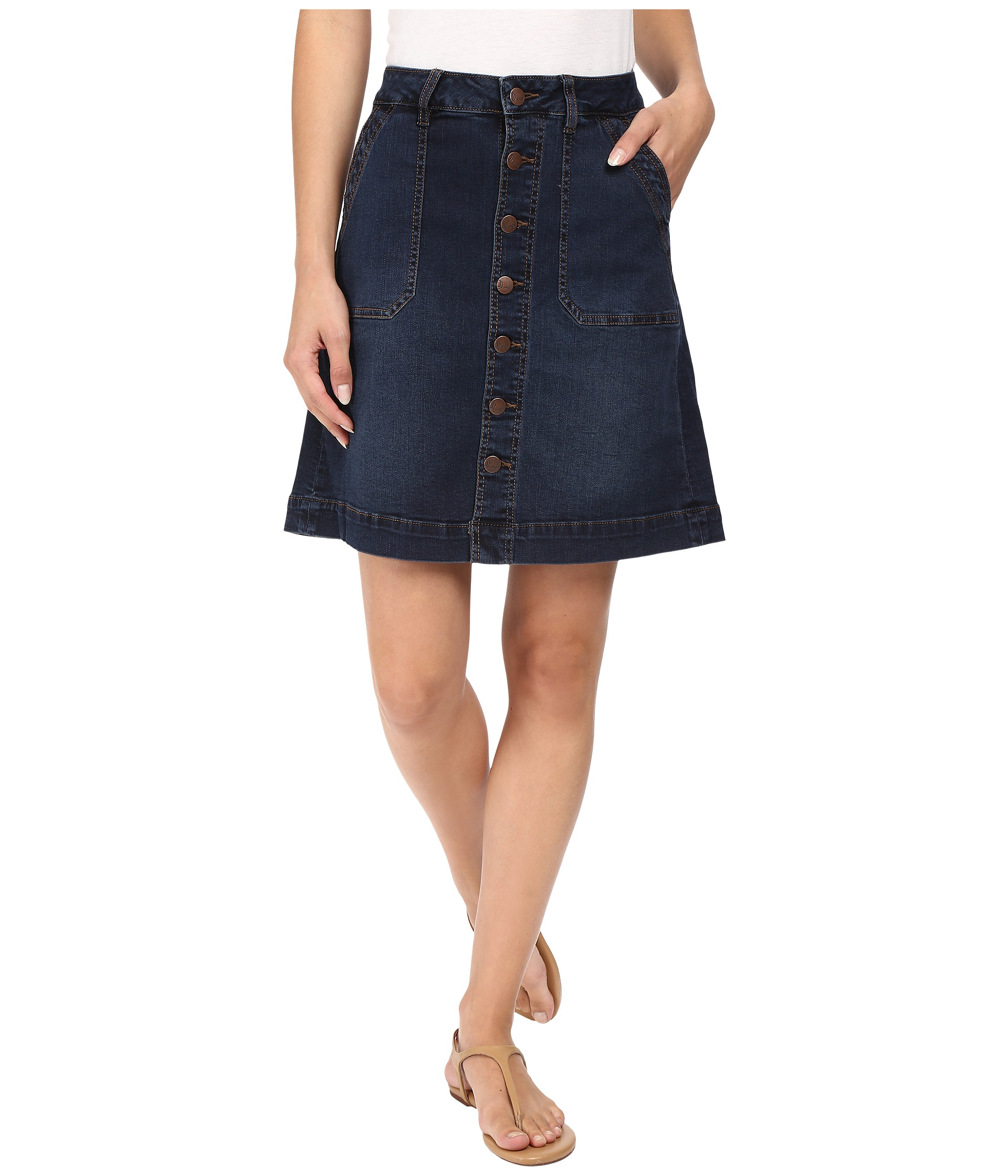 Jean Skirts | Shipped Free at Zappos