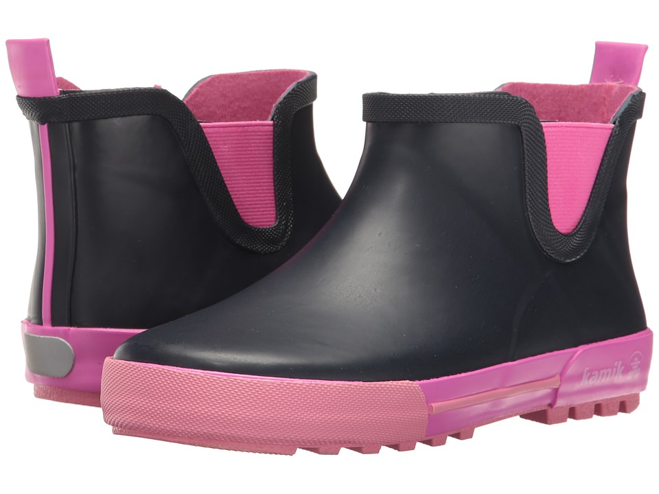 Kamik Kids Rainplaylo (Little Kid) (Navy/Magenta) Girls Shoes