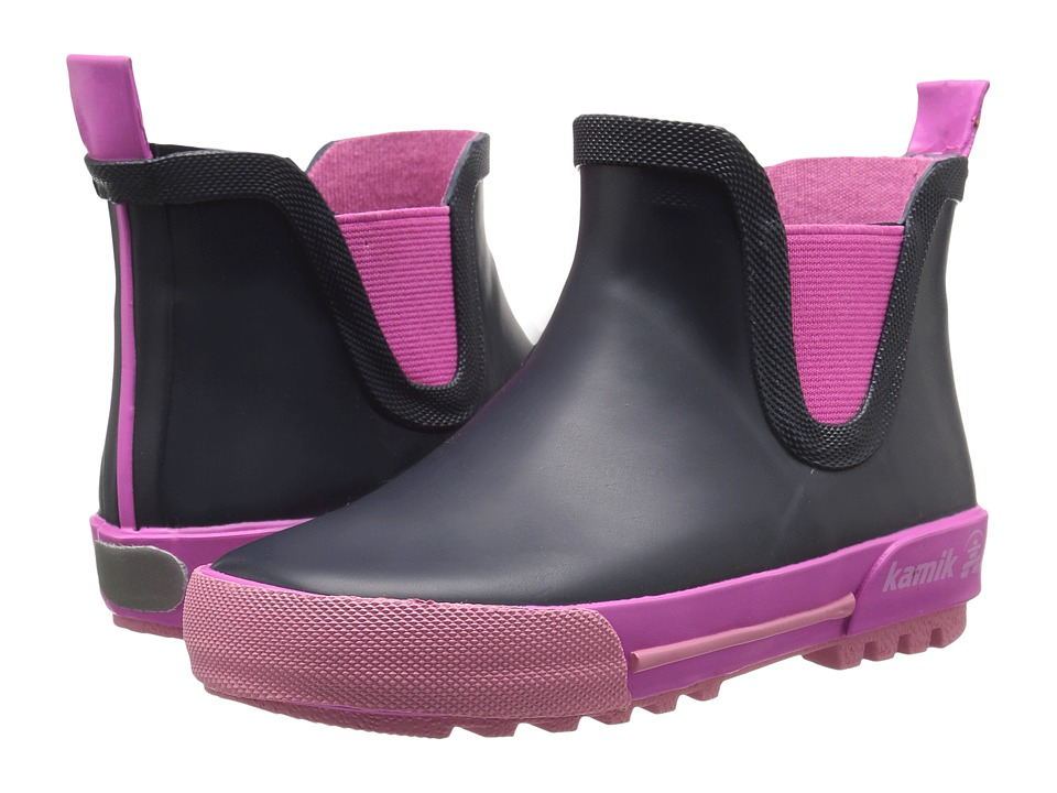 Kamik Kids Rainplaylo (Toddler) (Navy/Magenta) Girls Shoes