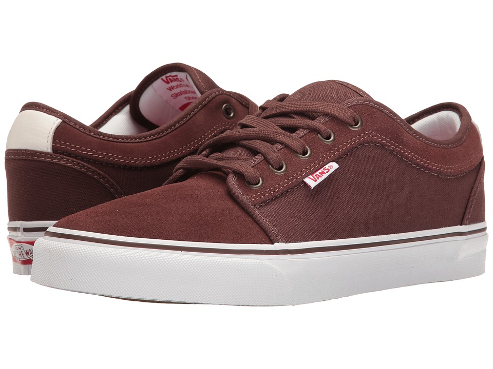 Vans - Chukka Low (French Roast/White/Red) Mens Skate Shoes