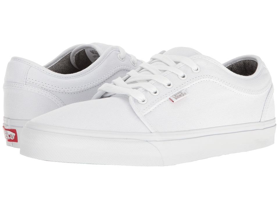 Vans - Chukka Low ((10 Oz. Canvas) White/White) Mens Skate Shoes