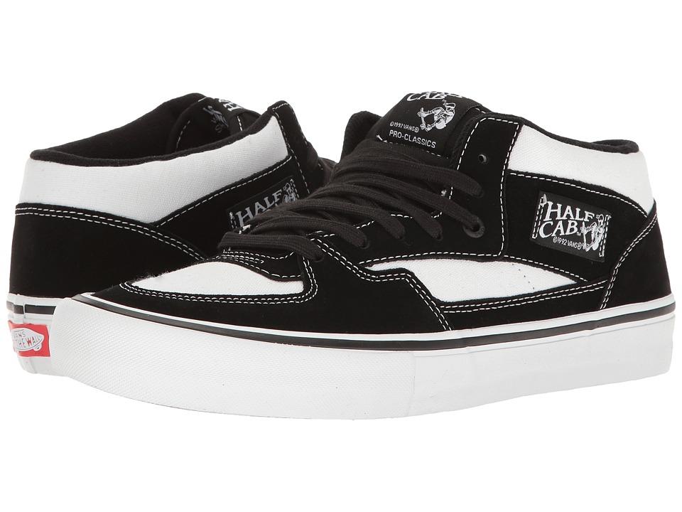 Vans - Half Cab Pro (White/Black/White) Mens Skate Shoes