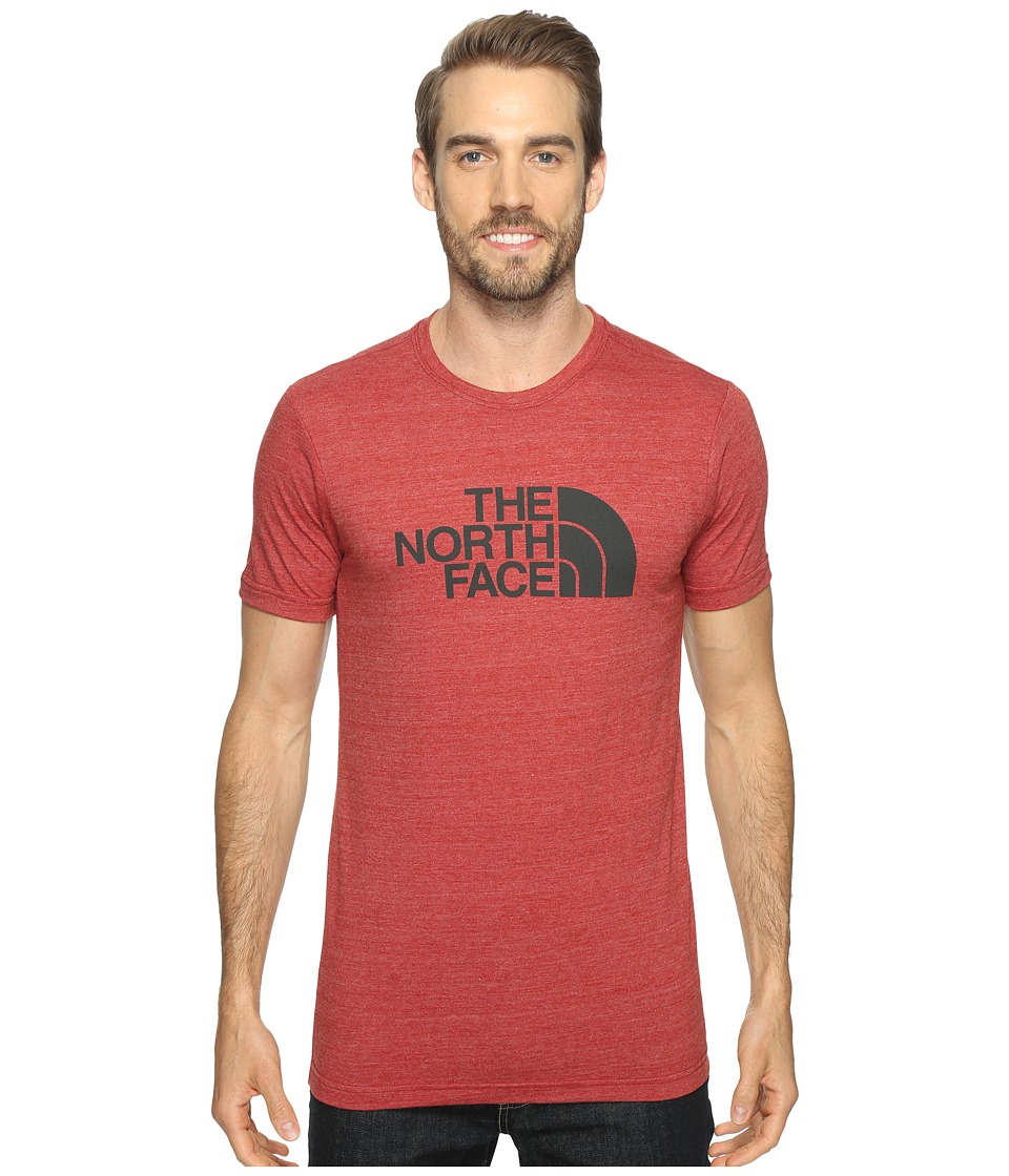 The North Face Short Sleeve Tri-Blend Tee (Cardinal Red Heather/Asphalt Grey) Men