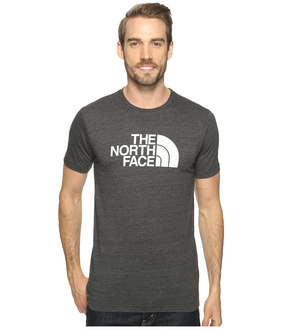 The North Face Short Sleeve Tri-Blend Tee (TNF Dark Grey Heather/TNF White) Men