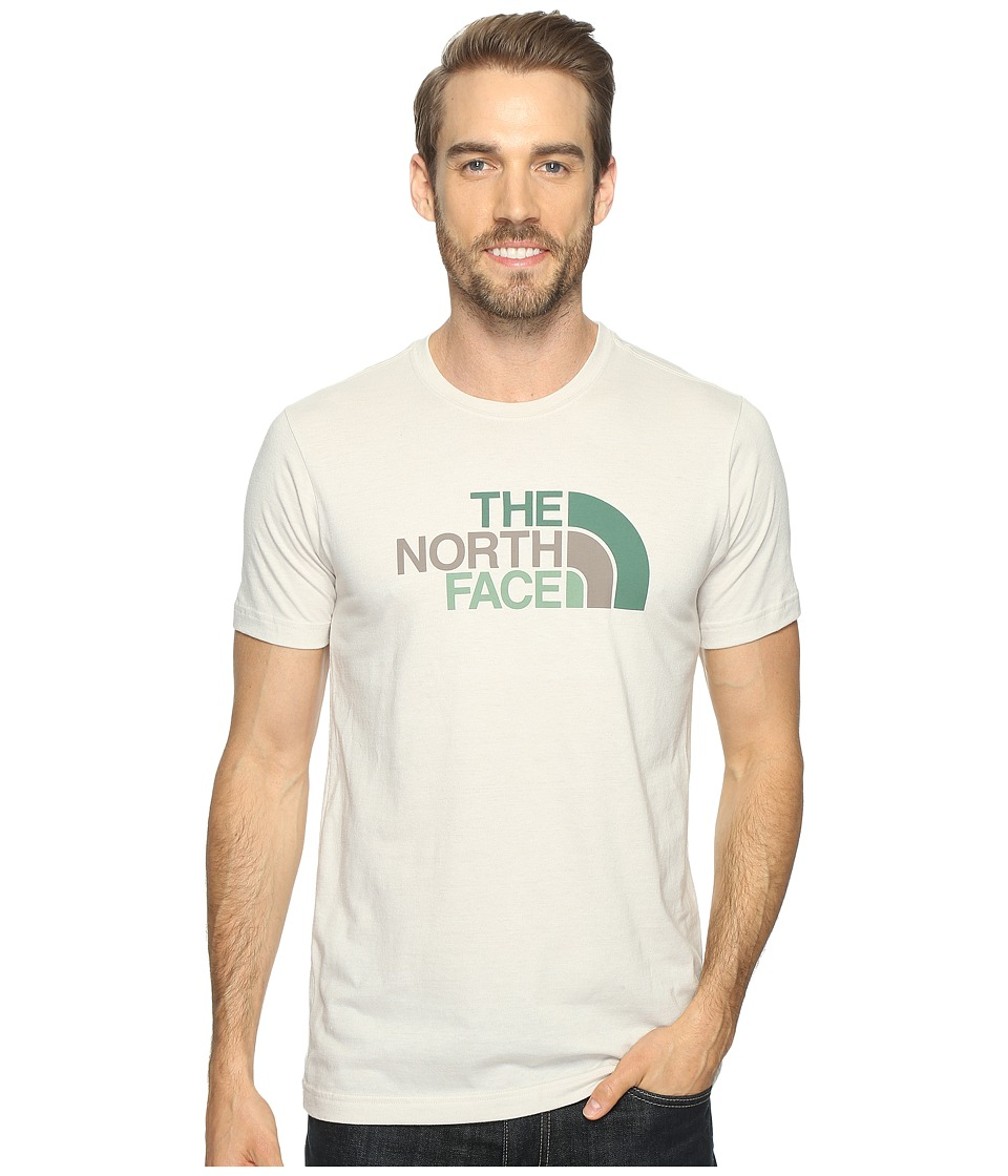 The North Face Short Sleeve Tri-Blend Tee (Rainy Day Ivory Heather/Falcon Brown Multi) Men