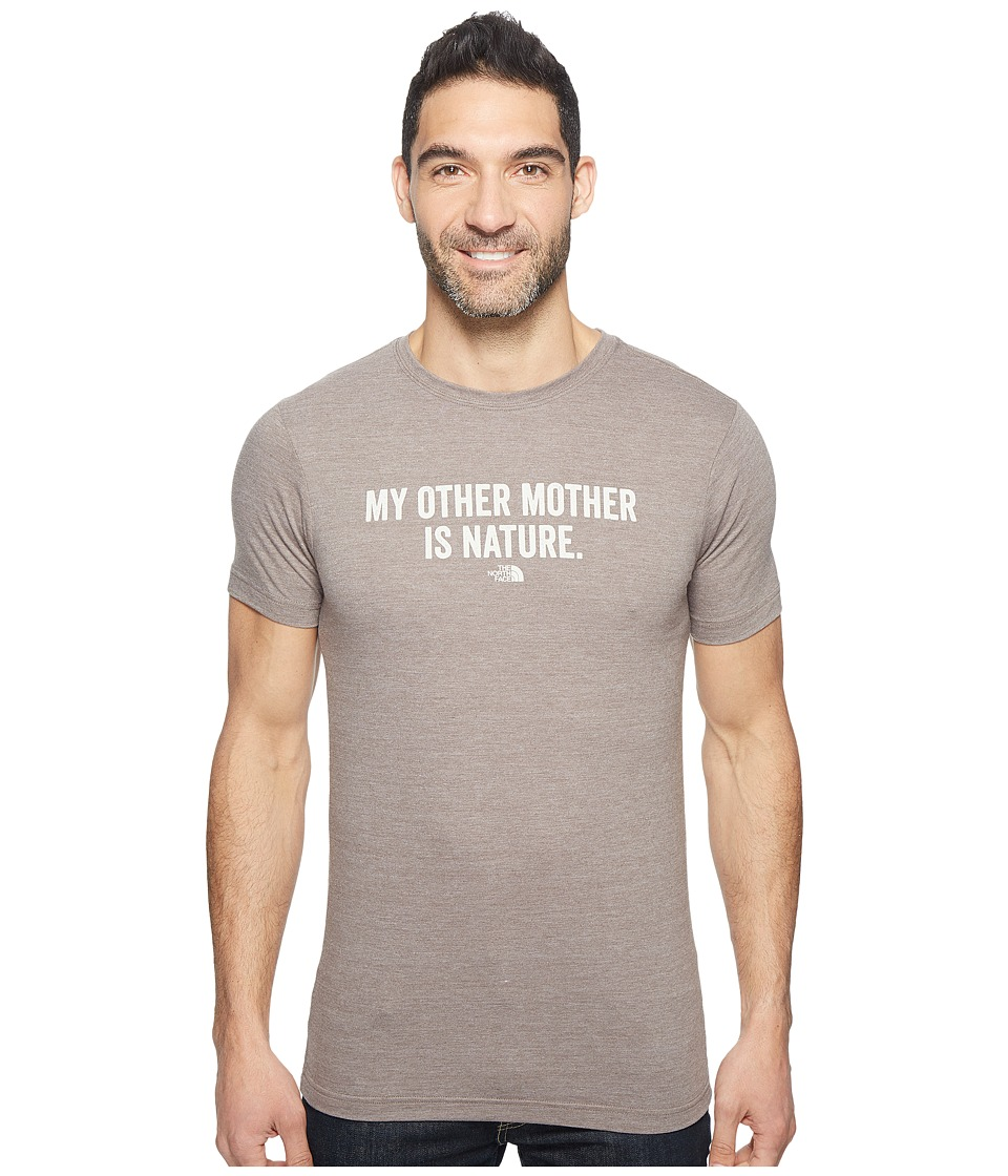 The North Face Short Sleeve Mother Nature Tri-Blend Tee (Falcon Brown Heather) Men