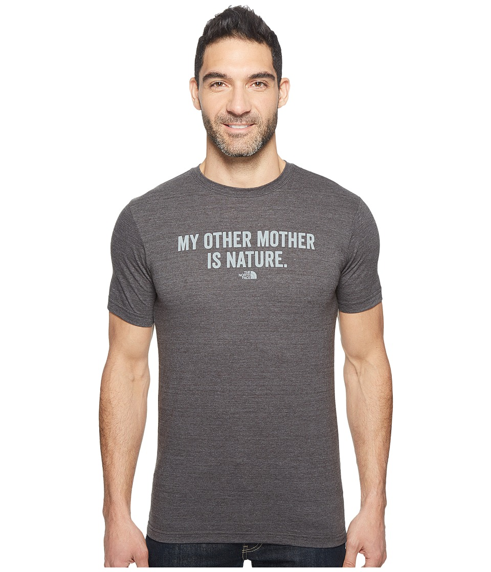The North Face Short Sleeve Mother Nature Tri-Blend Tee (TNF Dark Grey Heather) Men