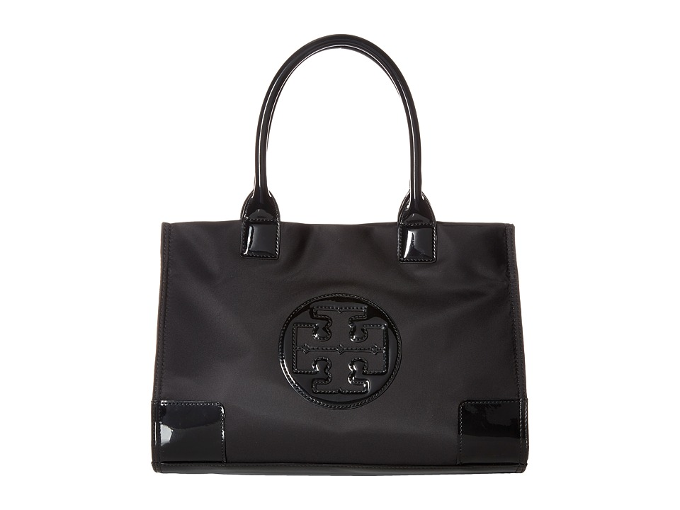 Tory Burch Ella Mini Tote (Black/Black) Tote Handbags