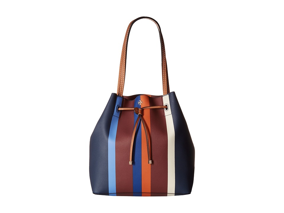 Tory Burch - Kerrington Stripe Drawstring Tote (Multi Center Stripe) Tote Handbags