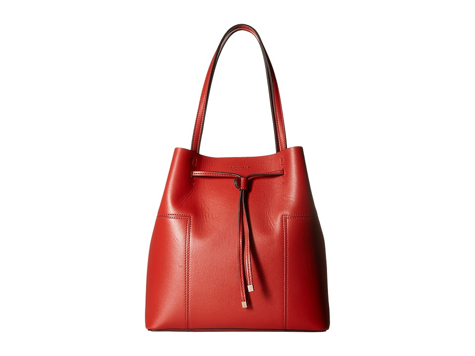 Tory Burch - Block-T Drawstring Tote (Warm Sienna) Tote Handbags