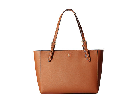 Tory Burch York Small Buckle Tote - Luggage