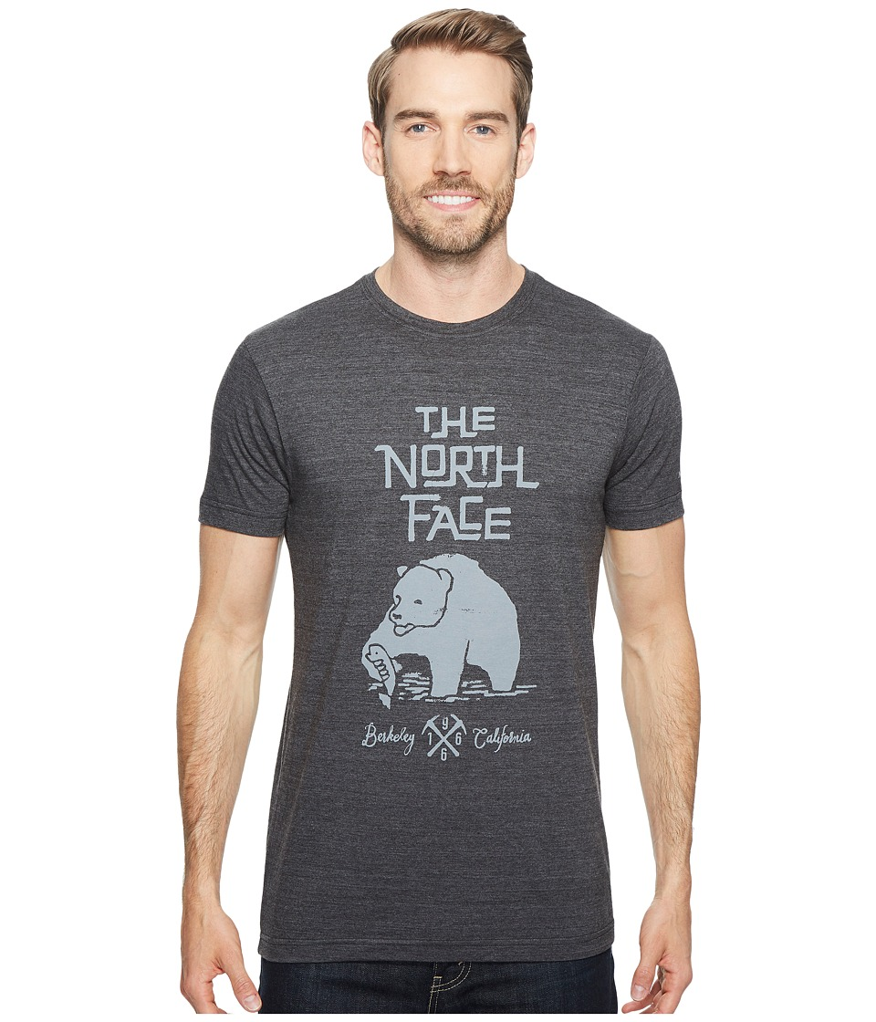 The North Face Short Sleeve Grizzly Tri-Blend Tee (TNF Dark Grey Heather) Men