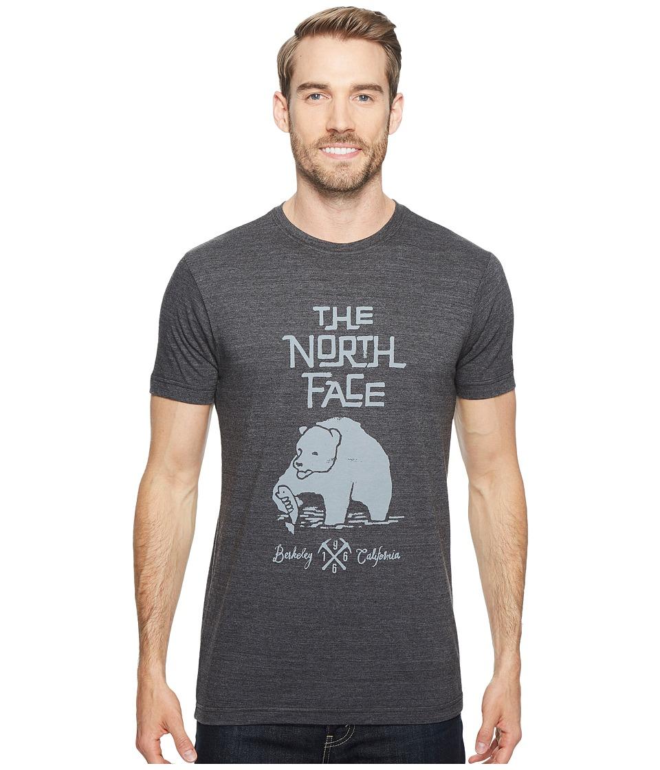 The North Face Short Sleeve Grizzly Tri-Blend Tee (TNF Dark Grey Heather (Prior Season)) Men