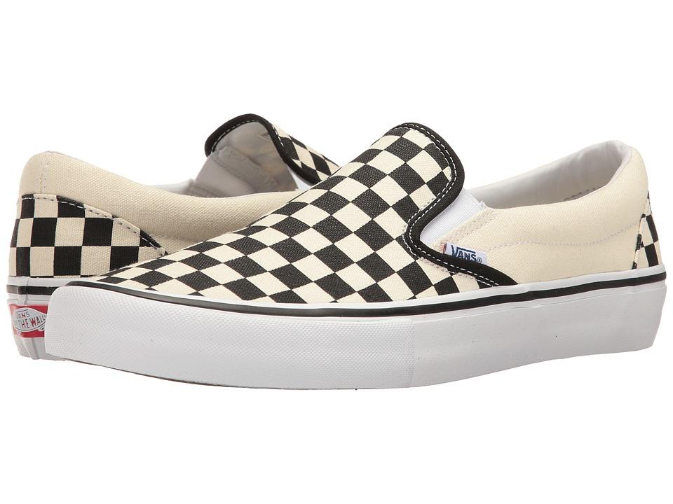 Vans Slip-On Pro ((Checkerboard) Black/White) Men's Skate...