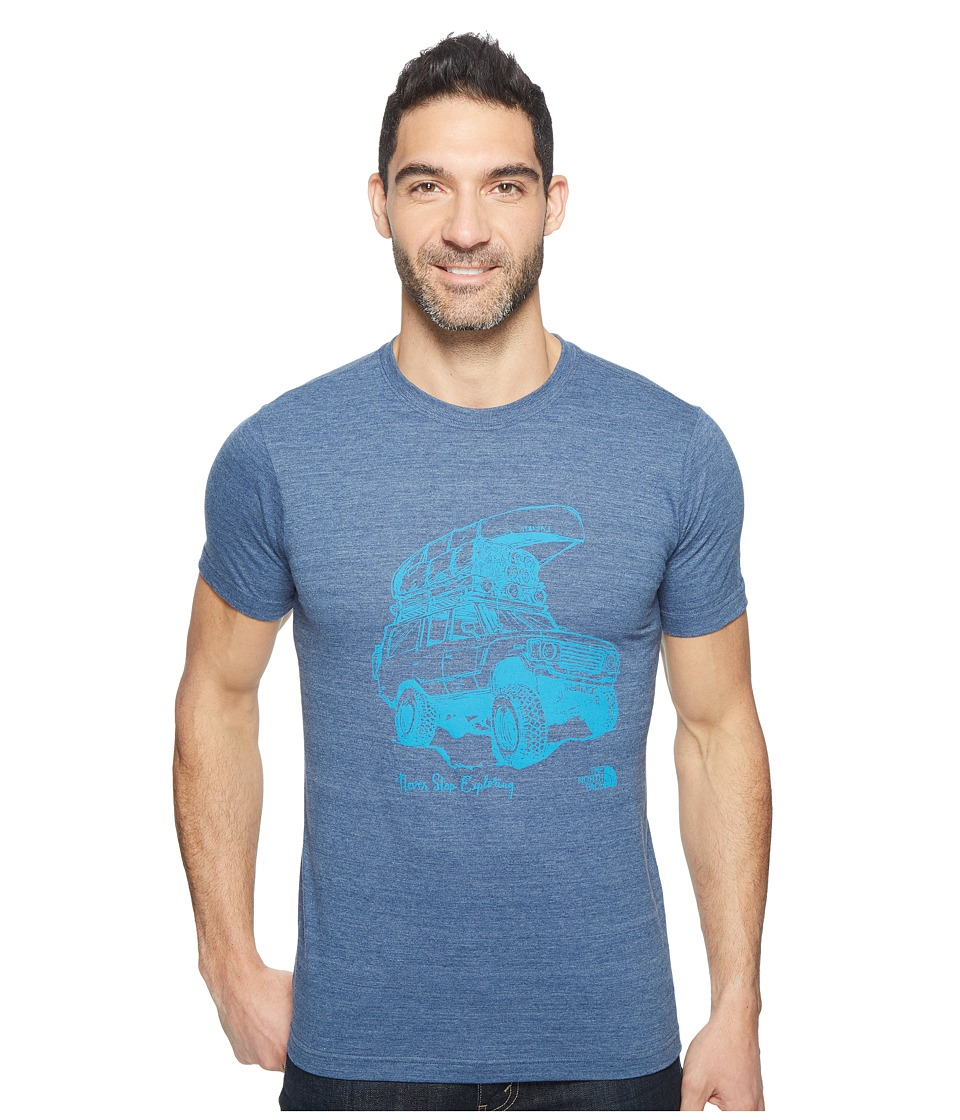 The North Face Short Sleeve Off Road Tri-Blend Tee (Shady Blue Heather) Men