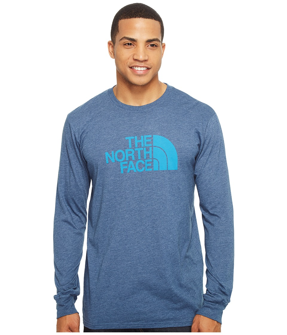 The North Face Long Sleeve Half Dome Tee (Shady Blue Heather/Hyper Blue) Men