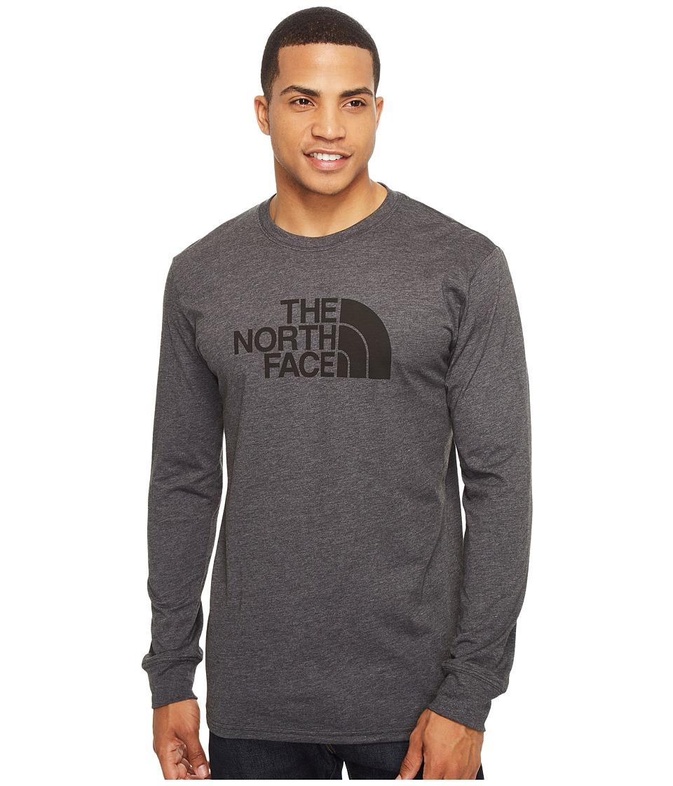 The North Face Long Sleeve Half Dome Tee (TNF Dark Grey Heather/TNF Black) Men