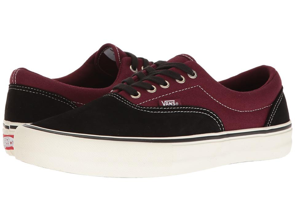Vans - Era Pro (Black/Port) Mens Skate Shoes