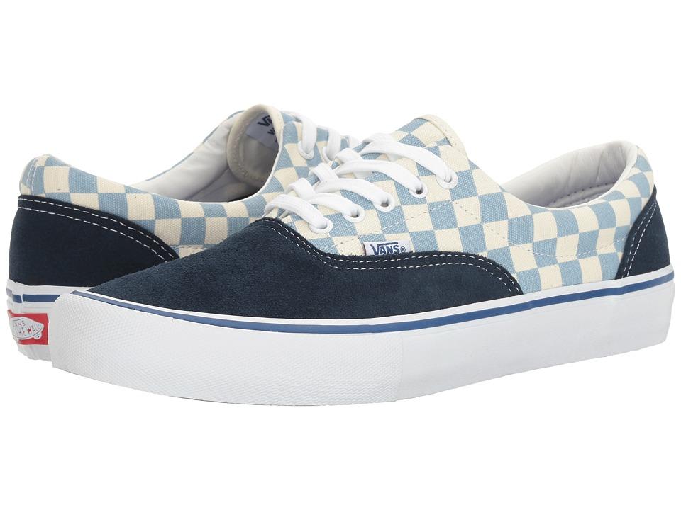 Vans - Era Pro ((Checkerboard) Dress Blues/Marshmallow) Mens Skate Shoes