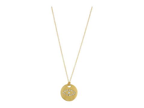 Roberto Coin Tiny Treasures Evil Eye Pendant Necklace with Diamonds - Yellow Gold