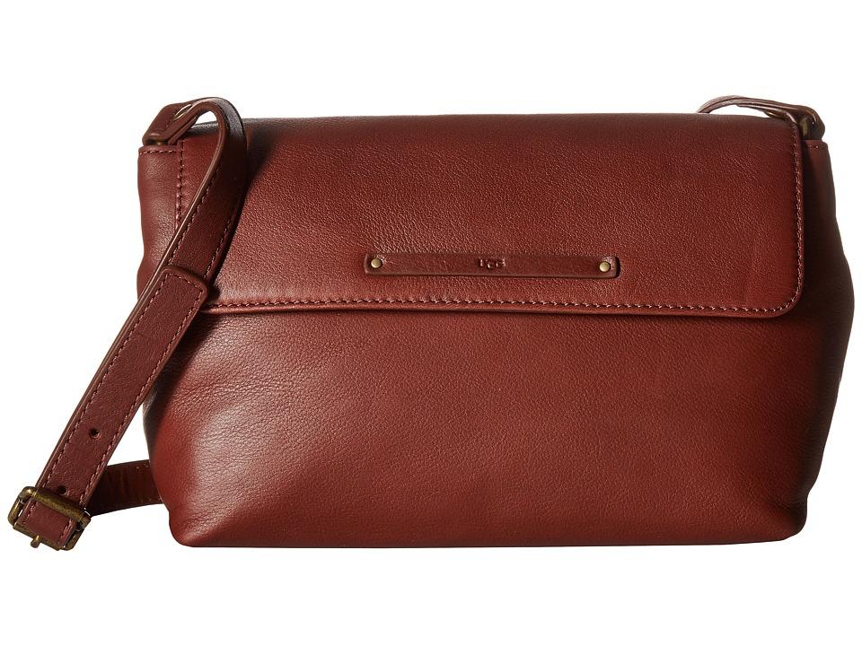UGG - Jenna Crossbody (Deep Mahogany) Cross Body Handbags