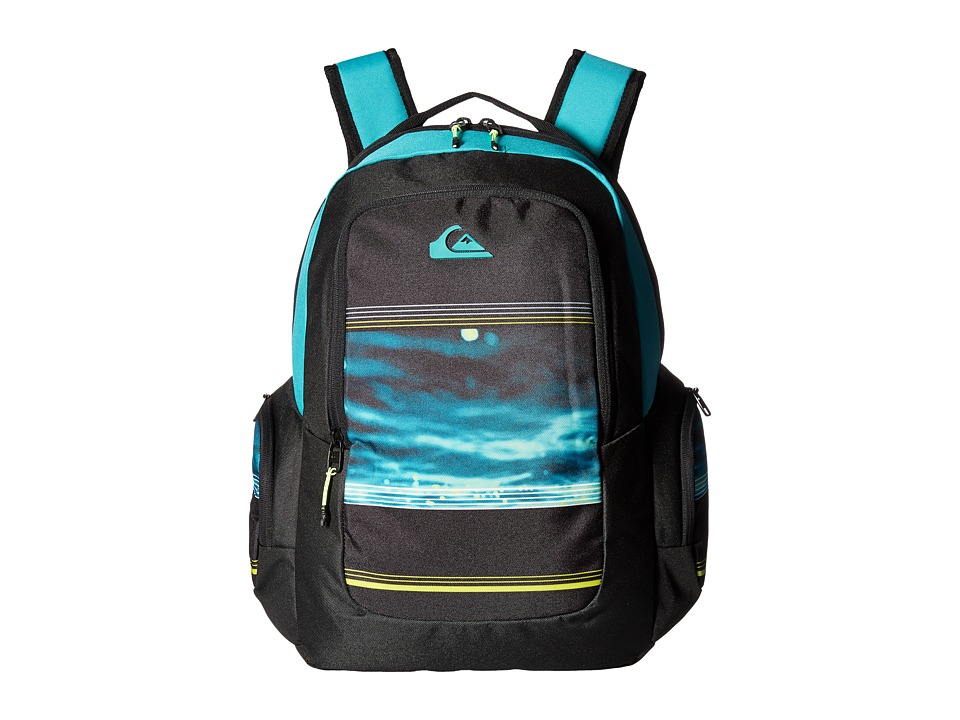 Quiksilver Schoolie (Virdiana Green Water Fade) Backpack Bags