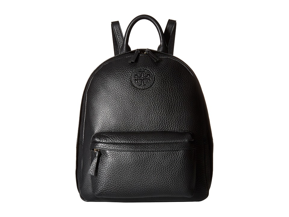 Tory Burch - Leather Backpack (Black) Backpack Bags
