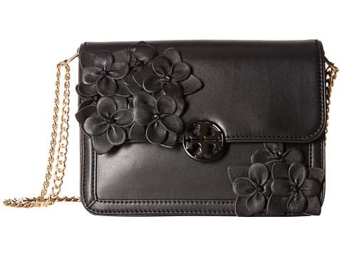 Tory Burch Duet Chain Flower Convertible Shoulder Bag - Black