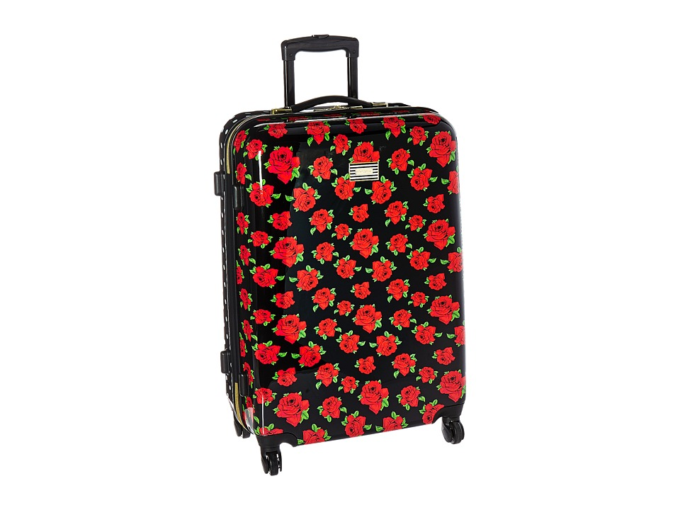 Betsey Johnson - Cover Roses Large Roller Luggage (Red) Luggage