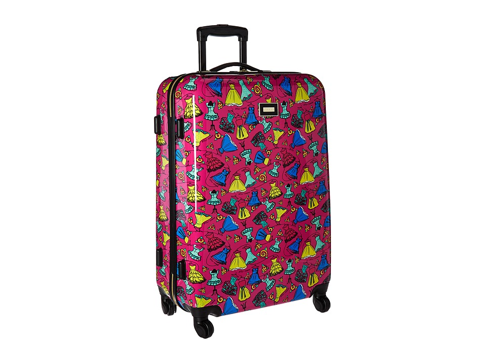 Betsey Johnson - Belle of The Ball Large Roller Luggage (Fuchsia) Luggage