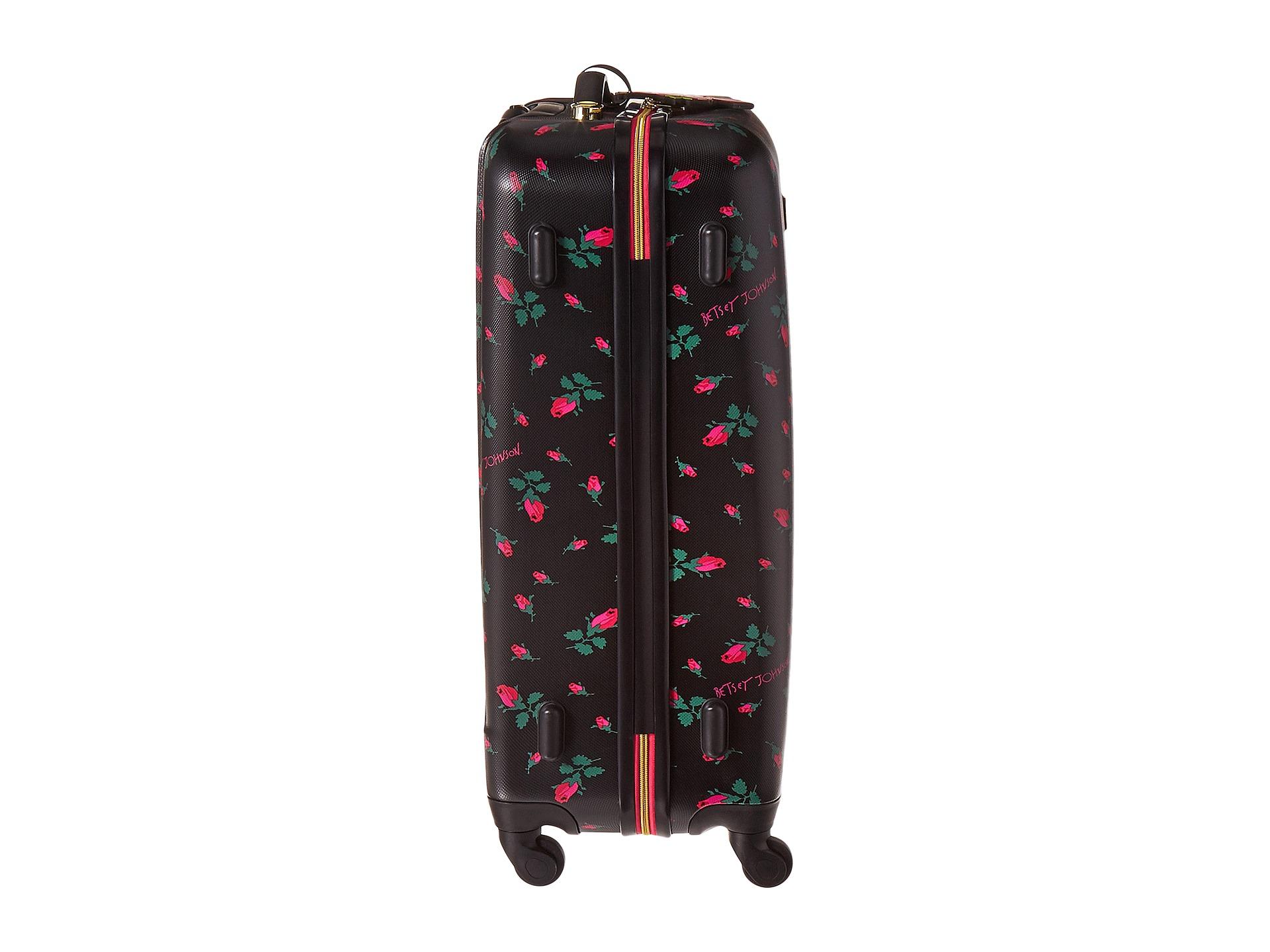 Betsey Johnson Betsey Budz Large Roller Luggage Rosebud ...