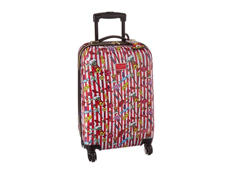 Betsey Johnson Carry-On Roller Luggage (Red/White) Carry on Luggage